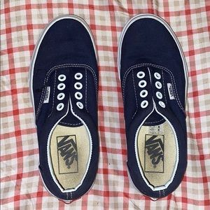 NWOT Kids Navy blue vans